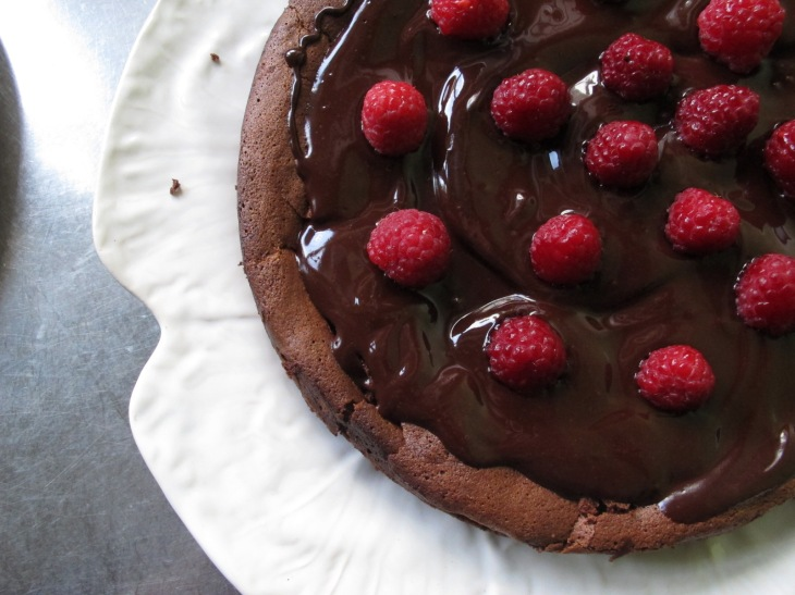 raspberry drenched chocolate cake 029